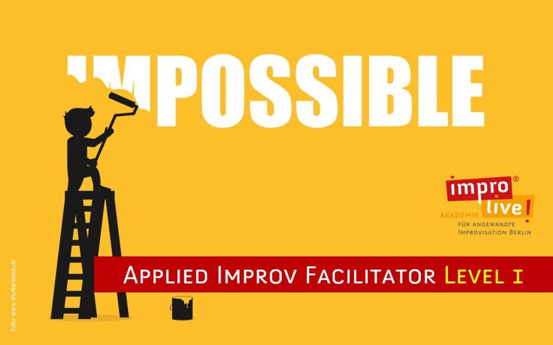 Applied Improv Facilitator Level 1